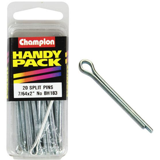 Champion Split Pins - 7 / 64inch X 2inch, BH183, Handy Pack, , scaau_hi-res