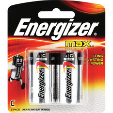 Energizer C Max Batteries 2 Pack, , scaau_hi-res
