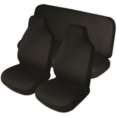 Best Buy Seat Cover Pack - Black, Built-in Headrests, Size 60 and 06, Front and Rear Pack, , scaau_hi-res