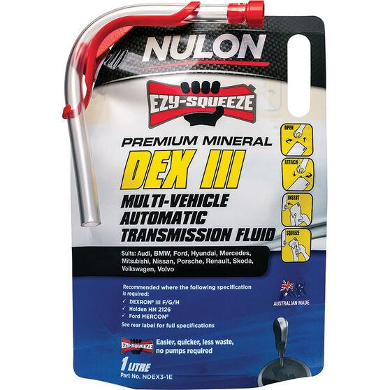 Nulon EZY-SQUEEZE Dex III Multi-Vehicle Automatic Transmission Fluid 1 Litre, , scaau_hi-res