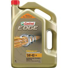 Castrol Edge SN Full Synthetic Engine Oil - 5W-40, 6 Litres, , scaau_hi-res