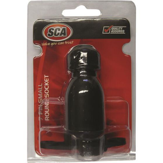 SCA Trailer Socket, Plastic - Small Round, 7 Pin, , scaau_hi-res