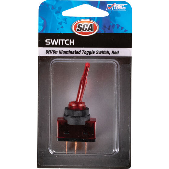 SCA Switch - Toggle, Off / On, Illuminated, Red, , scaau_hi-res