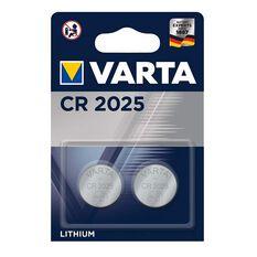 Varta Lithium Coin Battery - CR2025, 2 Pack, , scaau_hi-res