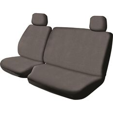 Canvas Ute Seat Cover - Charcoal, Size 401, Front Bucket & Bench (with cut out), , scaau_hi-res