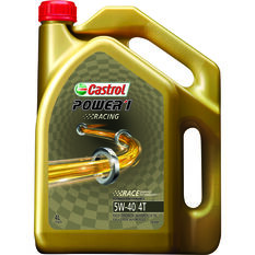 Castrol Power 1 Racing Motorcycle Oil - 5W-40, 4 Litre, , scaau_hi-res
