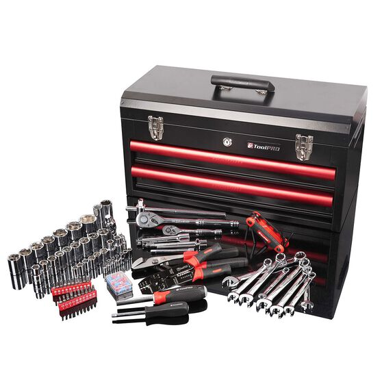 ToolPRO Tool Kit - 2 Drawer Chest, 112 Piece, , scaau_hi-res