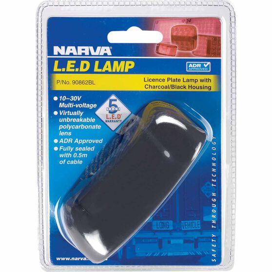 Narva Licence Plate Lamp - LED, White, 10-30V, , scaau_hi-res