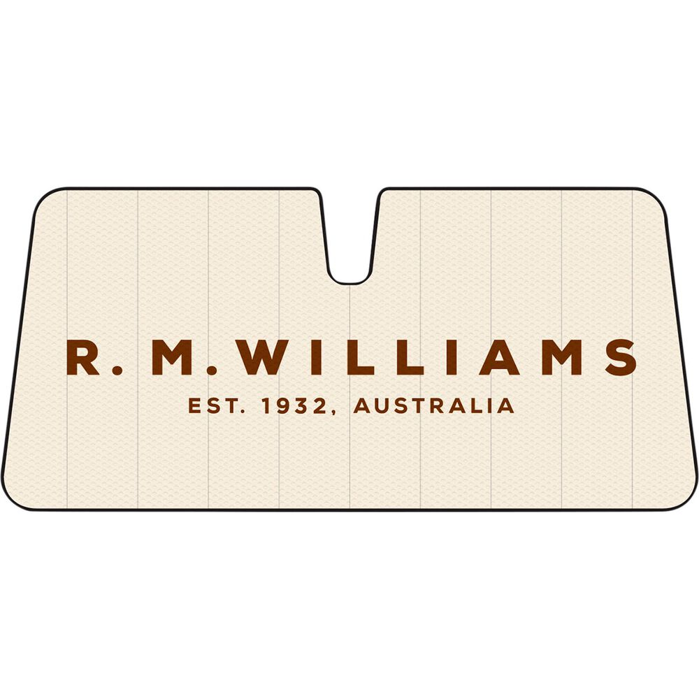 R M Williams Logo Sunshade Various Accordion Front
