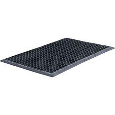 Honeycomb Black Rubber Garage Mat - 600 X 900Mm, , scaau_hi-res