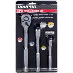 "ToolPRO Ratchet Handle Set 1/4"" 3/8"" & 1/2"" Drive 3 Piece, , scaau_hi-res"