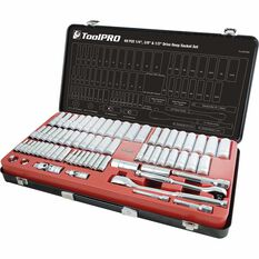 "ToolPRO Socket Set 1/4"" 3/8"" & 1/2"" Drive Metric/SAE 69 Piece, , scaau_hi-res"