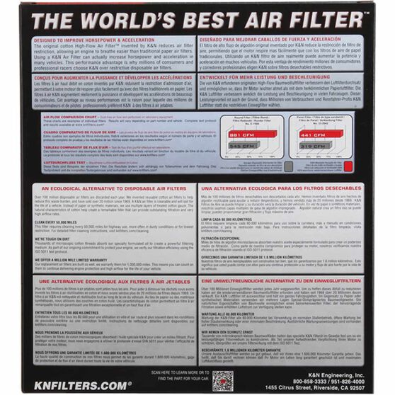 K&N Air Filter - 33-2116 (Interchangeable with A1358), , scaau_hi-res