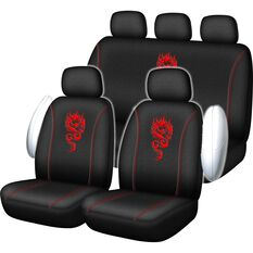 SCA Dragon Seat Cover Pack - Red Adjustable Headrests Size 30 and 06H Airbag Compatible, , scaau_hi-res