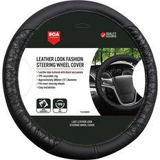 SCA Steering Wheel Cover - Lace, Black, 380mm diameter, , scaau_hi-res