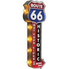 Tin Sign Illuminated Route 66, , scaau_hi-res