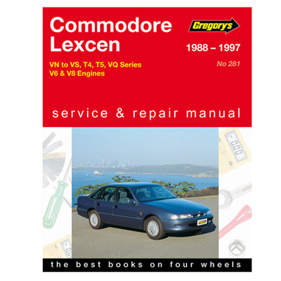Gregory's Car Manual For Holden Commodore / Lexcen 1988-1997 - 281, , scaau_hi-res