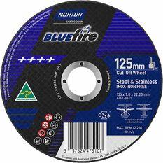 Norton Metal Cut off Disc - 125mm x 1.0mm x 22mm, , scaau_hi-res