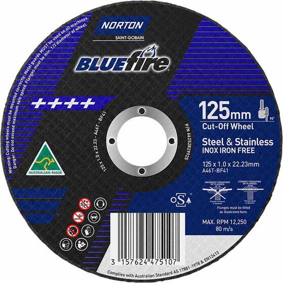 Norton Metal Cut off Disc 125mm x 1.0mm x 22mm, , scaau_hi-res