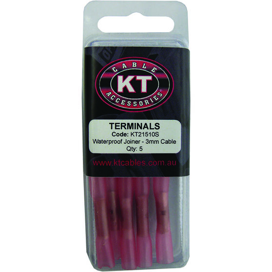 KT Cable Waterproof Butt Splice - Red, 5 Pack, , scaau_hi-res
