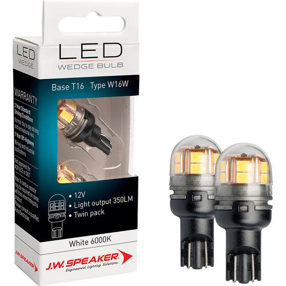 JW Speaker LED Wedge - T16, 12V, 6200K, W16W