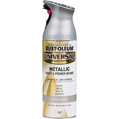 Rust-Oleum Aerosol Paint Universal - Satin Nickel, 312g, , scaau_hi-res