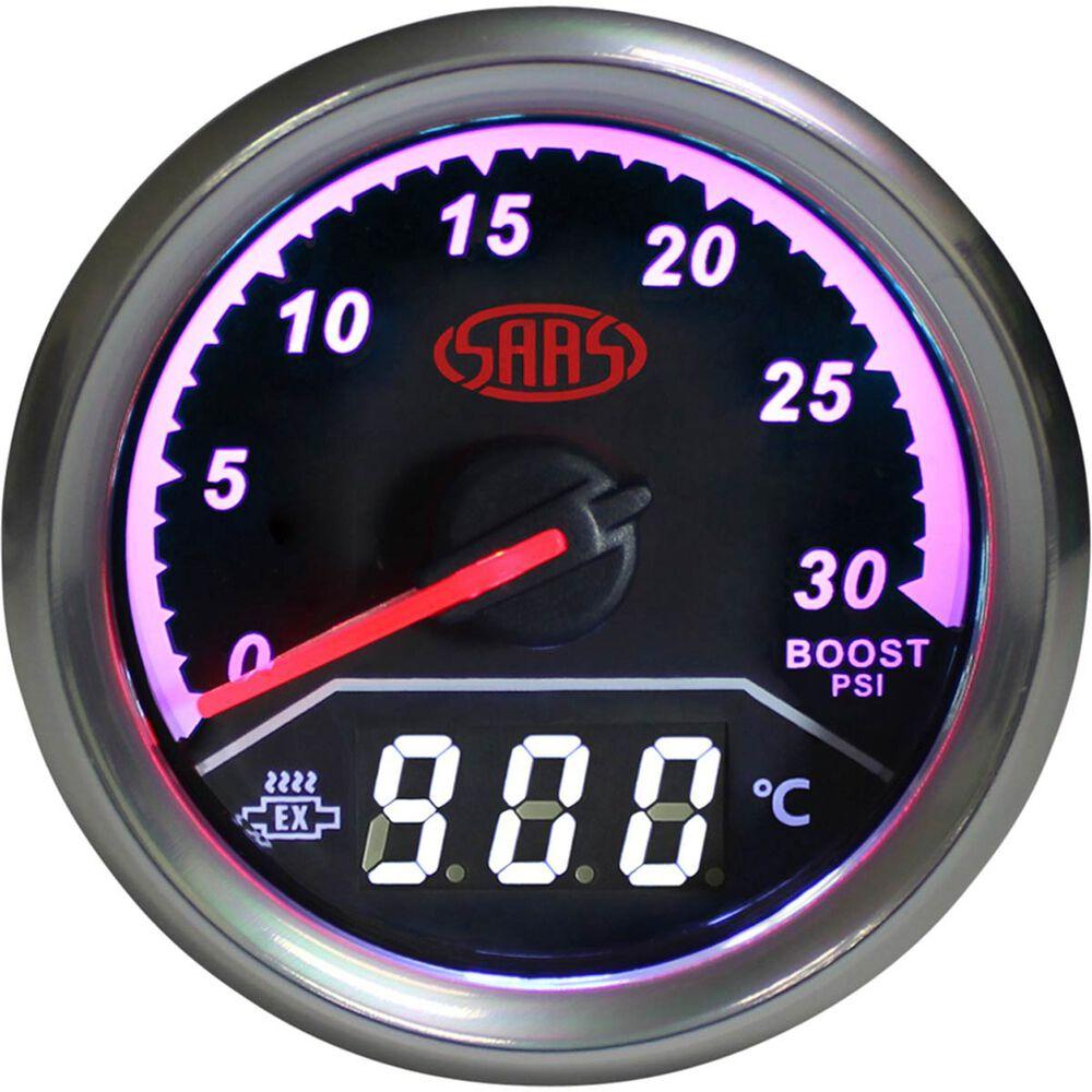 Saas Dual Diesel Boost Exhaust Temperature Trax Gauge Black Wiring Harness Cummins Scaau Hi Res
