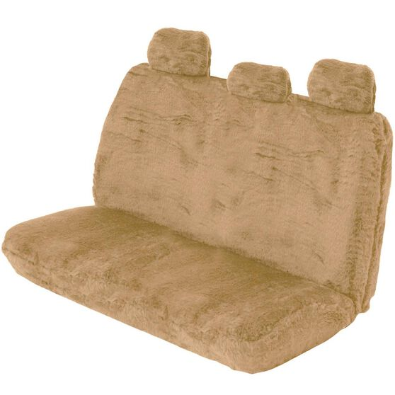 SCA Comfort Fur Seat Cover - Bamboo, Adjustable Headrests, Size 06H, Rear Seat, , scaau_hi-res