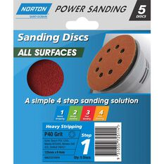 Norton Disc Sander - 40 Grit, 125mm, , scaau_hi-res