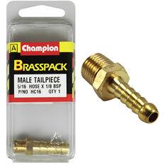 Champion Male Hose Barb - 5 / 16inch X 1 / 8inch, Brass, , scaau_hi-res