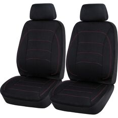 Neoprene Seat Covers - Black & Red, Adjustable Headrests, , scaau_hi-res