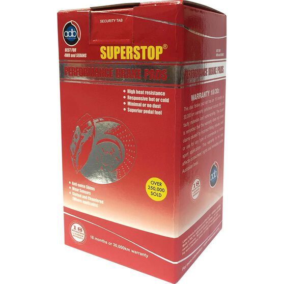 ADB SuperStop Disc Brake Pads -  DB1332SS, , scaau_hi-res