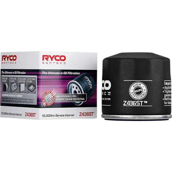 Ryco Syntec Oil Filter Z436ST (Interchangeable with Z436), , scaau_hi-res