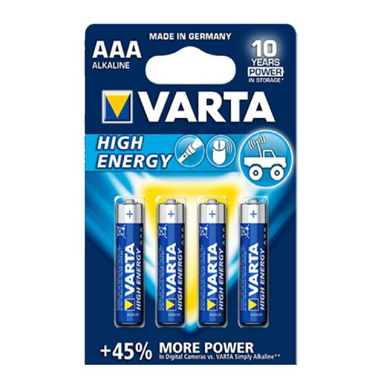 Varta High Energy Battery - AAA, 4 Pack, , scaau_hi-res