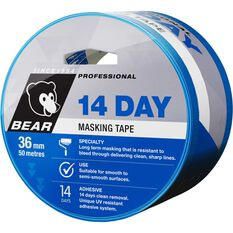 Blue 14 Day Masking Tape - 36mm x 50m, , scaau_hi-res