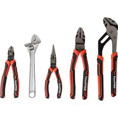 Plier and Wrench Set - 5 Piece, , scaau_hi-res