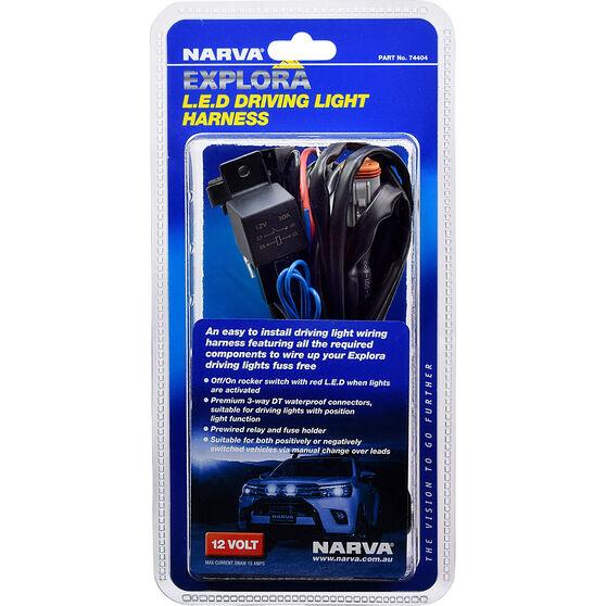 Narva Explora Driving Light Harness, 12V, Suits Explora 175 Driving Lights, , scaau_hi-res