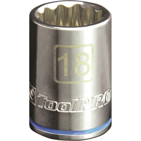 ToolPRO Single Socket - 1 / 2 inch Drive, 18mm, , scaau_hi-res