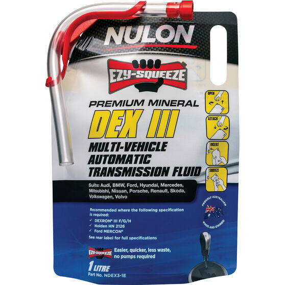 NULON EZY-SQUEEZE Dex Iii Multi-Vehicle Automatic Transmission Fluid - 1 Litre, , scaau_hi-res