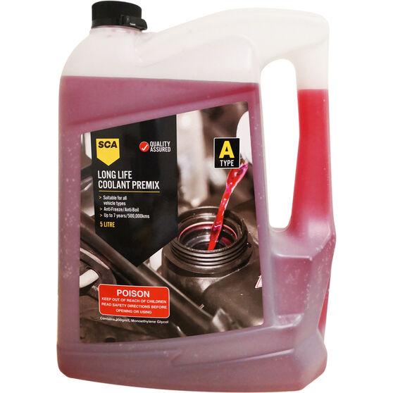 SCA Long Life Red Coolant Premix 5 Litre, , scaau_hi-res