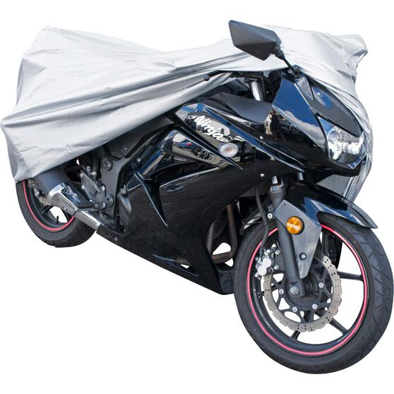 CoverALL Motorcycle Cover Silver Protection Water Resistant - Small, Suits Up To 500cc, , scaau_hi-res