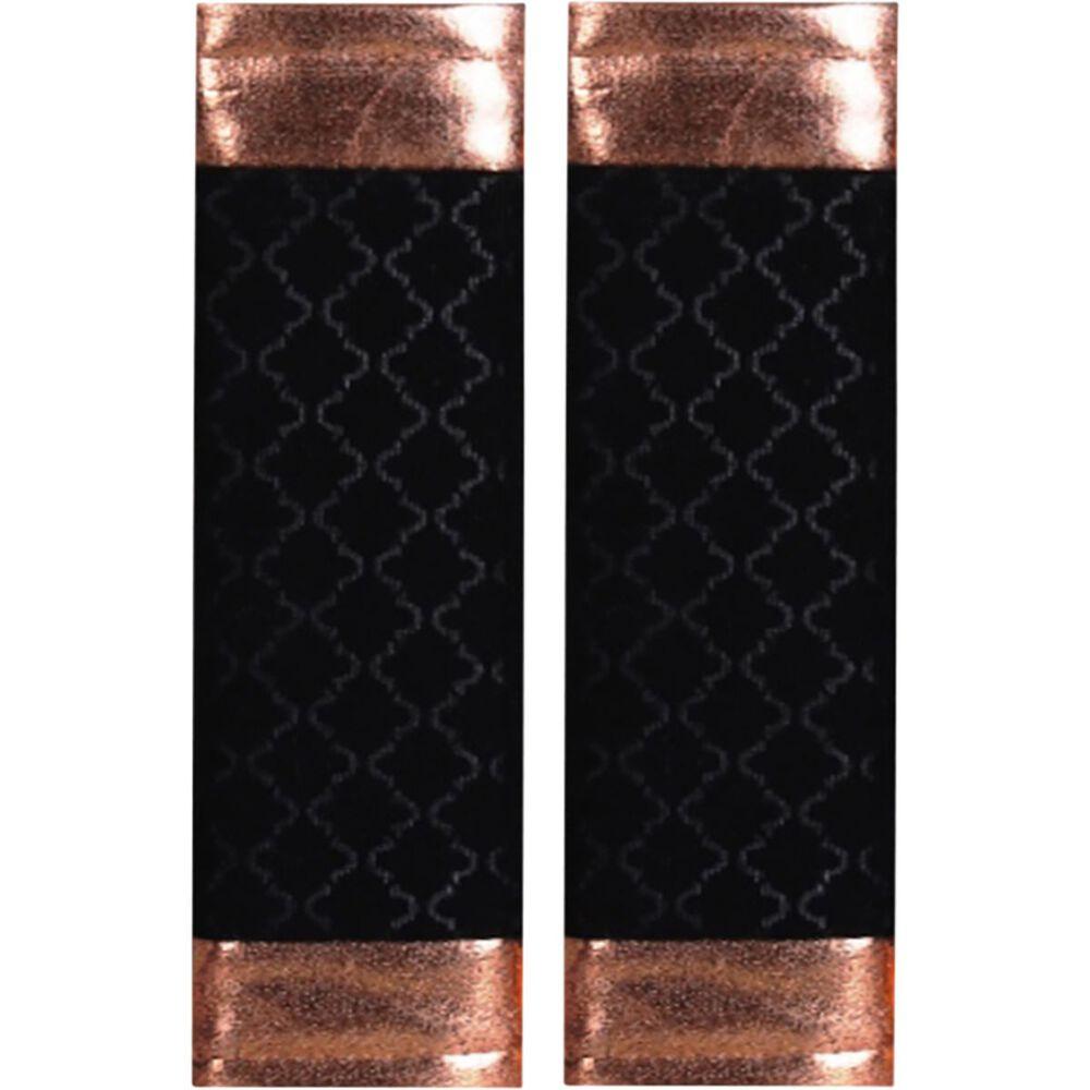 Metallic Print Seat Belt Buddies Rose Gold And Black