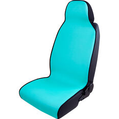 SCA Neoprene Slip On Seat Cover - Aqua, Single Seat Cover, , scaau_hi-res