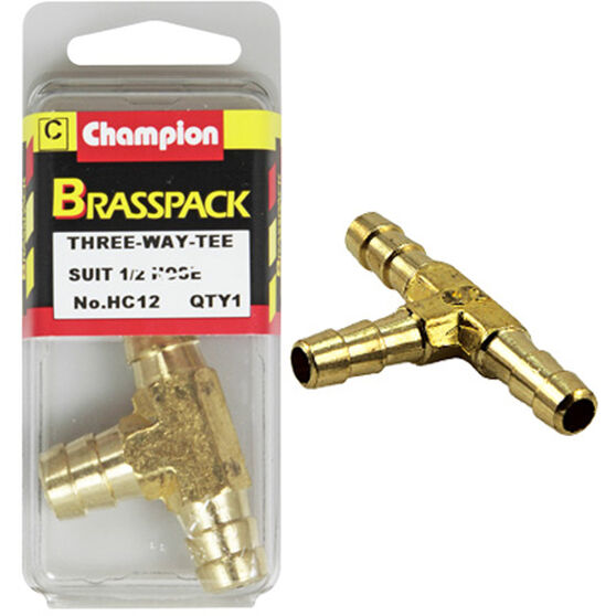 Champion T Pieces - 1 / 2inch, Brass, , scaau_hi-res