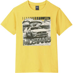 Mustang Boys T-Shirt Yellow, , scaau_hi-res