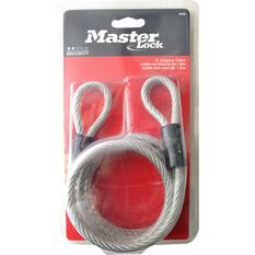 Master Lock Looped Cable - Woven Steel, 6mm x 1.8m, , scaau_hi-res