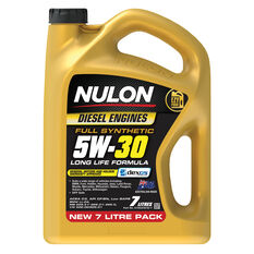 Nulon Full Synthetic 5W-30 Long Life Diesel Engine Oil 7L, , scaau_hi-res