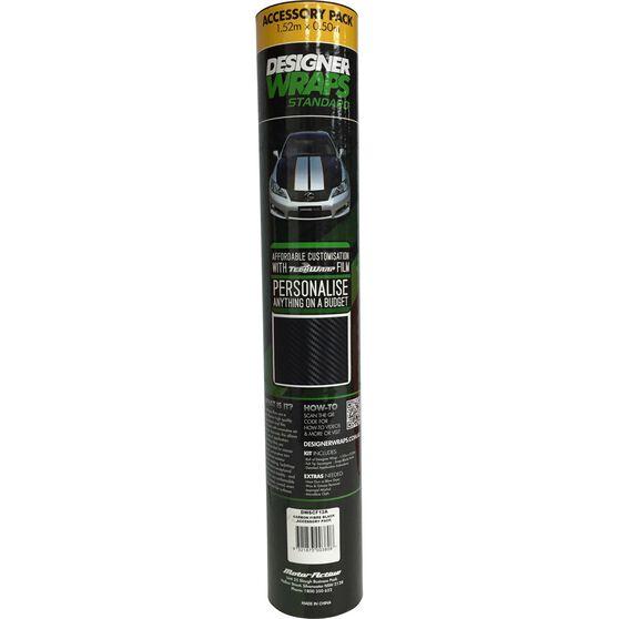 Designer Wraps Standard - Carbon Fibre Black, Accessory Pack, 1.52 x 0.50m, , scaau_hi-res