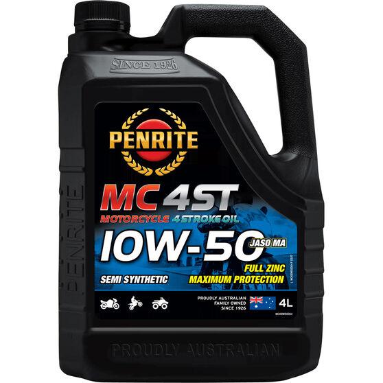 Penrite MC-4ST Semi Synthetic Motorcycle Oil 10W-50 4 Litre, , scaau_hi-res