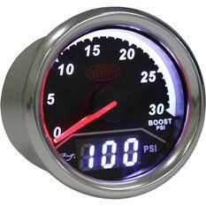 Trax Gauge - Black Face, 52mm, Dual Diesel Boost/Oil Pressure Analogue/Digital, , scaau_hi-res